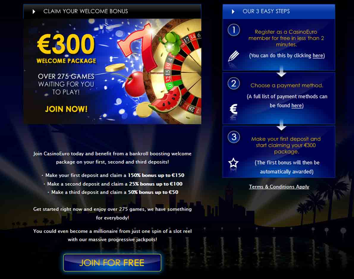 CasinoEuro Promotions