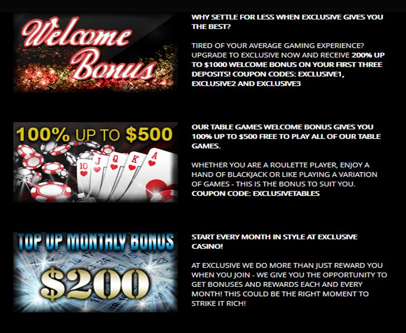 Exclusive Casino Promotions