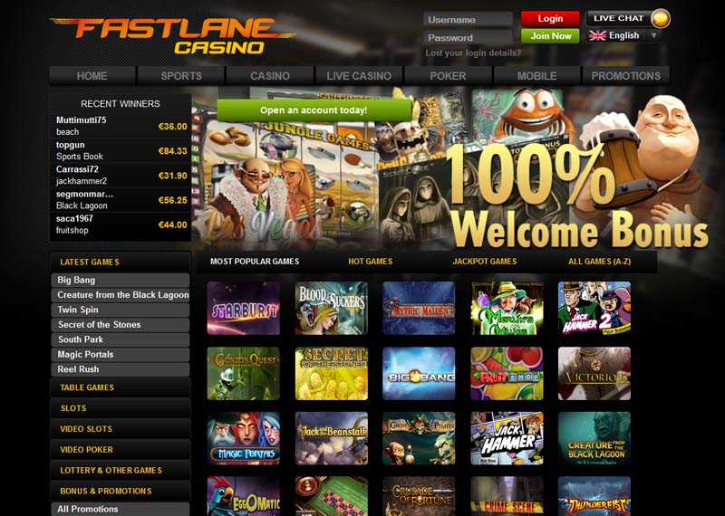Fast Lane Casino Promotions
