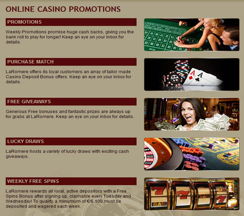 LaRomere Casino Promotions