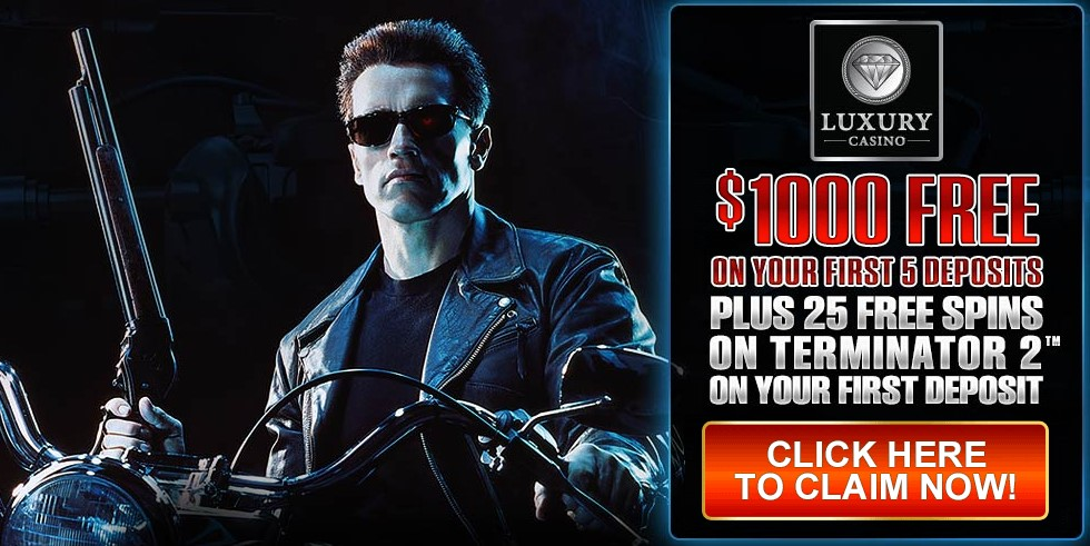25 Free Spins On Terminator 2 Slot At Luxury Casino