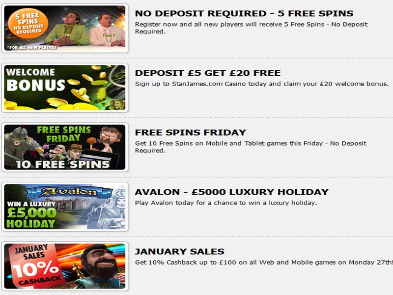 stan james casino no deposit bonus