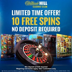 William Hill Casino Club 10 freespins