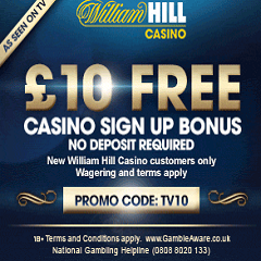 £10 No Deposit Bonus For New Customers Of William Hill