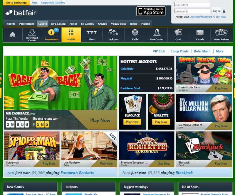 Betfair Casino Promotions