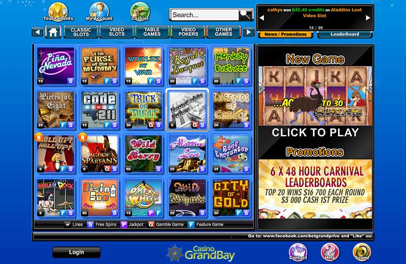 Grand Bay Casino Promotions