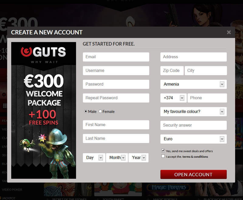 Guts Casino Promotions
