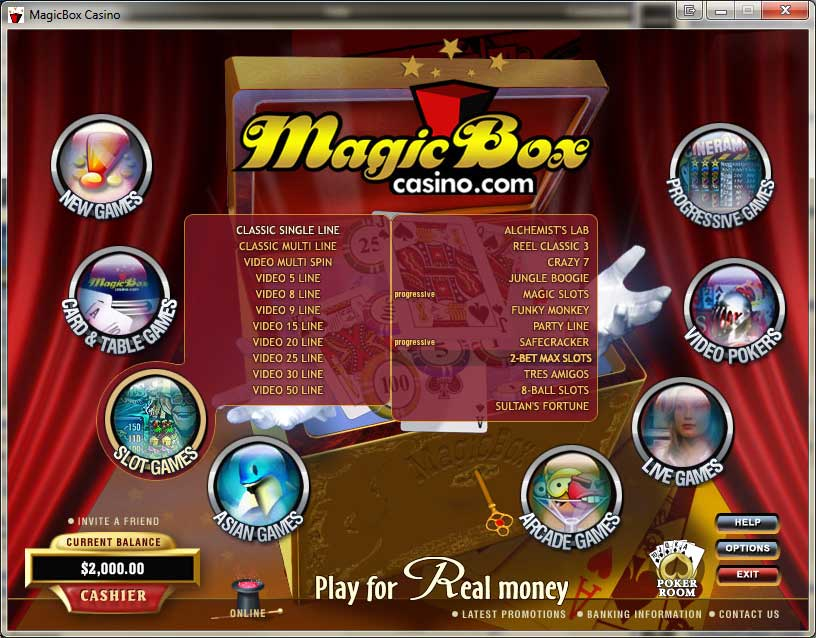 Magic Box Casino Promotions