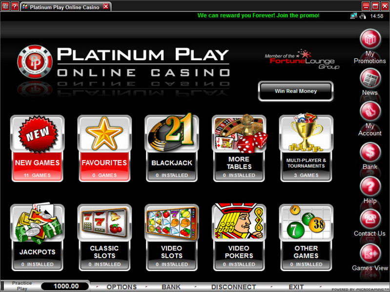Platinum Play Casino Promotions