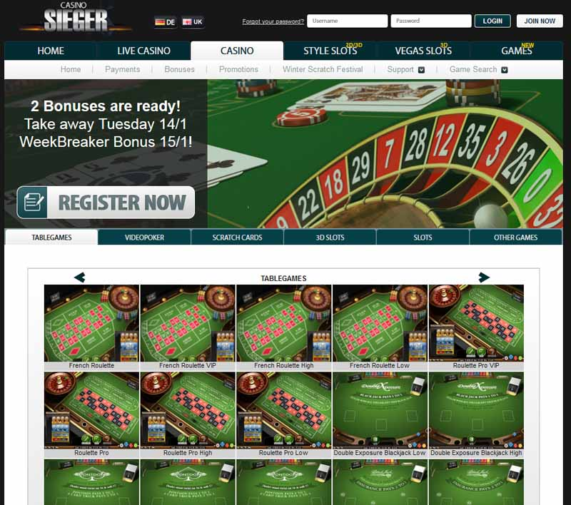 Casino Sieger Promotions