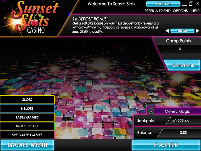 Sunset Slots No Deposit Bonus
