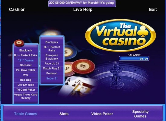 Virtual Casino Promotions
